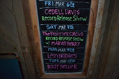 001 White Water Tavern Schedule