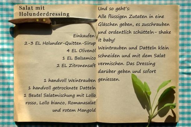 Einkaufszettel Salat mit Holunderdressing by Glasgeflüster