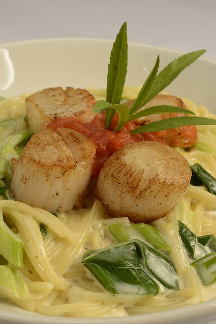 Deep Sea Scallops on Spaghetti