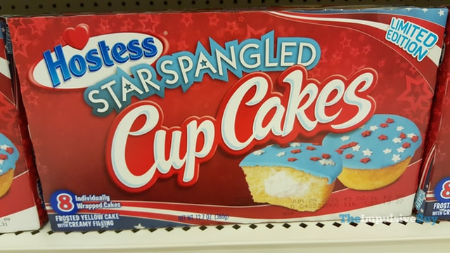 Hostess Limited Edition Star Spangled Cup Cakes