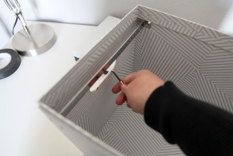 Black & White Striped File Box