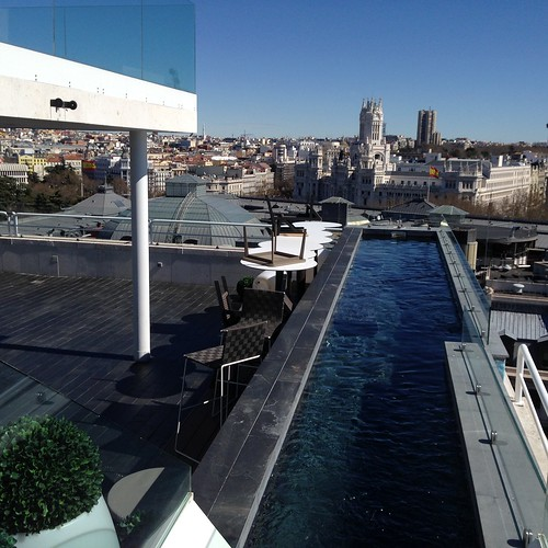 The Balcony Pool Deck & Bar, Hotel Melia Innside Madrid Suecia. Madrid