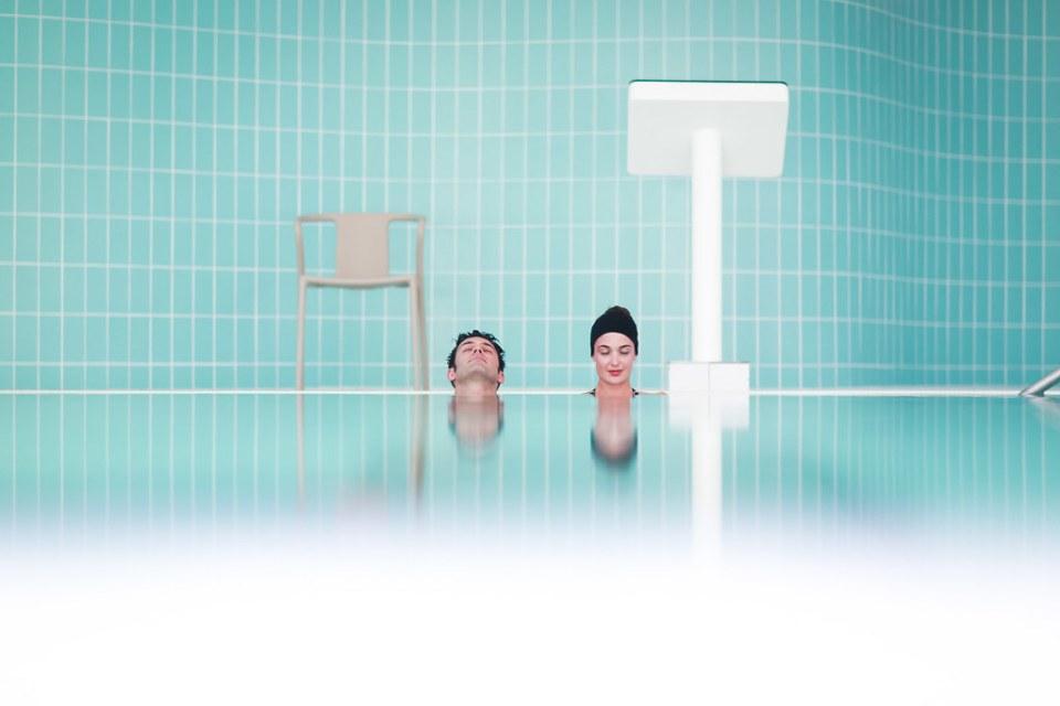 Shooting pour les Thermes Evian Resort (no photoshop)