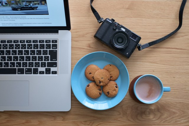 MacBook Pro, cocoa & X100S 2015/04/25 XE104103