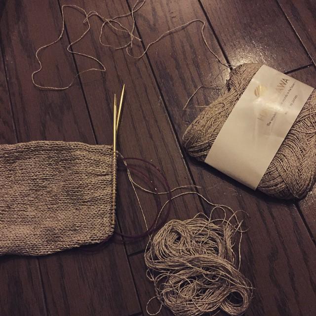 .........かと思いきやでっかいの発掘!編み終われるどころか余る!! #ba_ba_VitaminD
