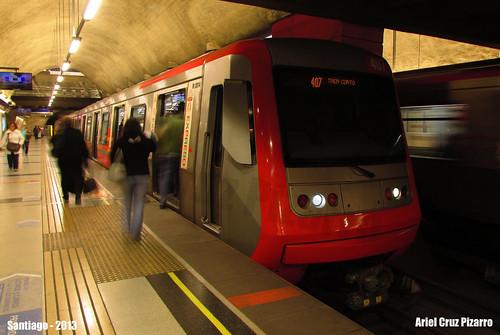 Metro de Santiago - Alstom AS2002 - Plaza Egaña (Línea 4)