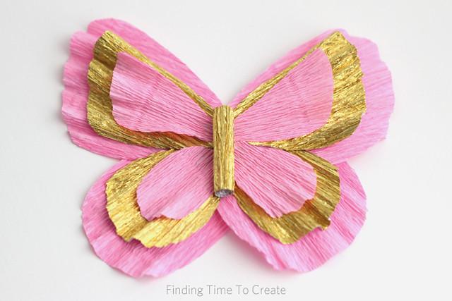 Italian Crepe Paper butterfly