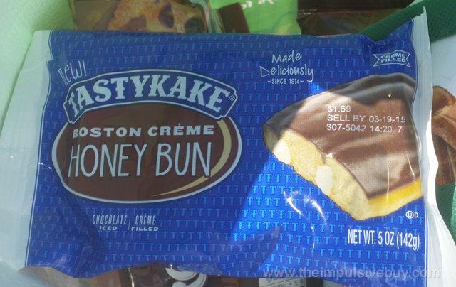 Tastykake Boston Creme Honey Bun