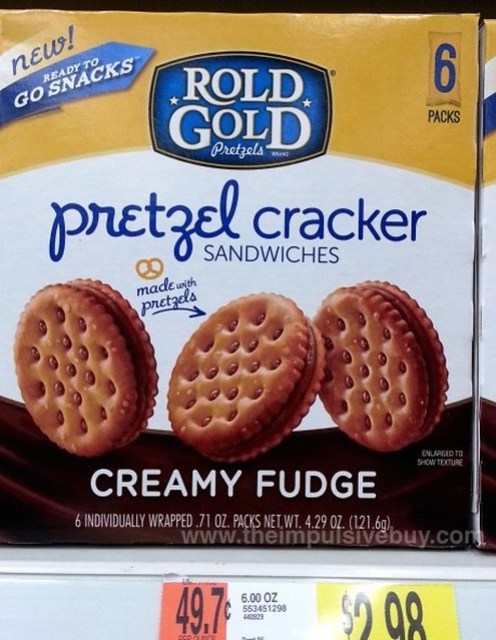 Rold Gold Creamy Fudge Pretzel Cracker Sandwiches