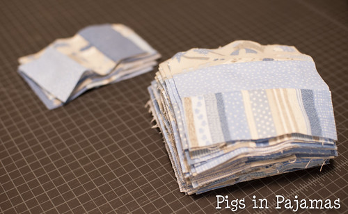 Baby quilt pieces