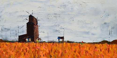 Lobby Cam oil painting