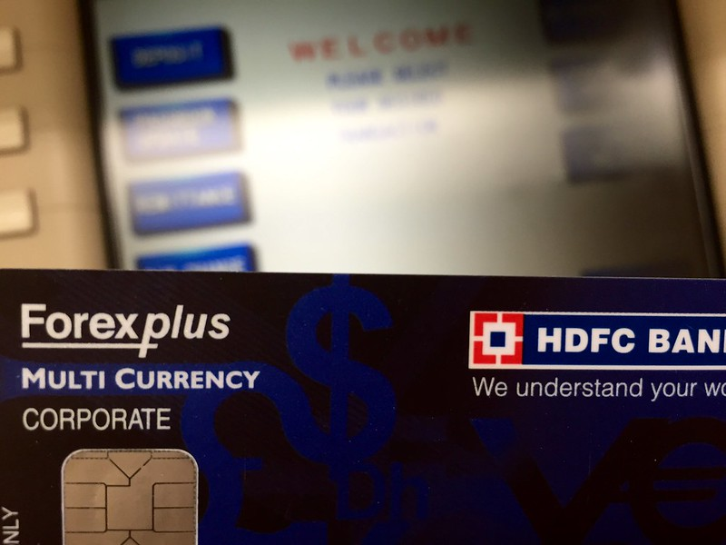 Hdfc forex card atm withdrawal