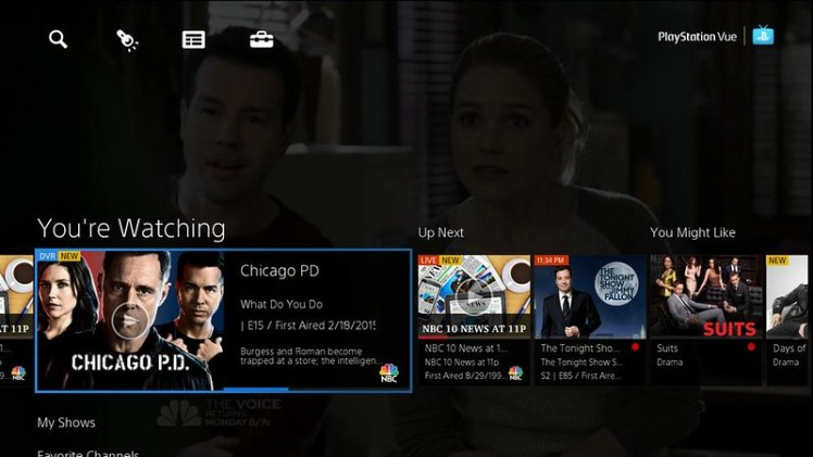 PlayStation Vue PS4 PS3 TV