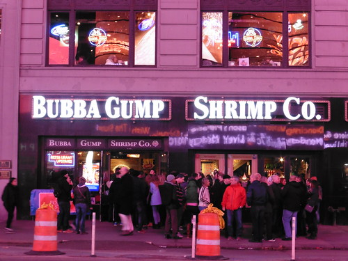 Dónde comer y gastronomía en Nueva York: Marisco en Bubba Gump Shrimp Co.