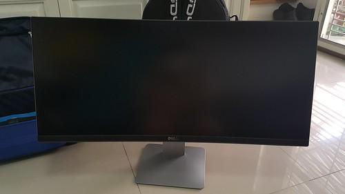Dell UltraSharp 34 Curved Monitor U3415W แบบลดระดับความสูงจนสุด