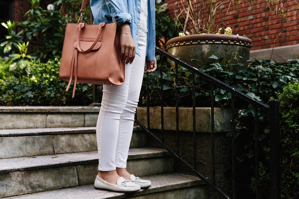 how to wear white denim in the summer