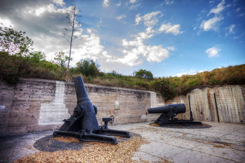 The canons from Fort de Soto.