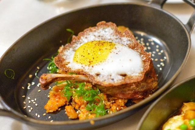 Sonoma Duck Leg Confit foie gras, kimchi fried rice, duck egg