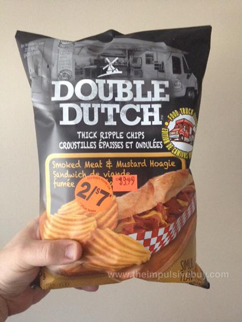 Double Dutch Food Truck Edition Smoked Meat & Mustard Hoagie Thick Ripple Chips