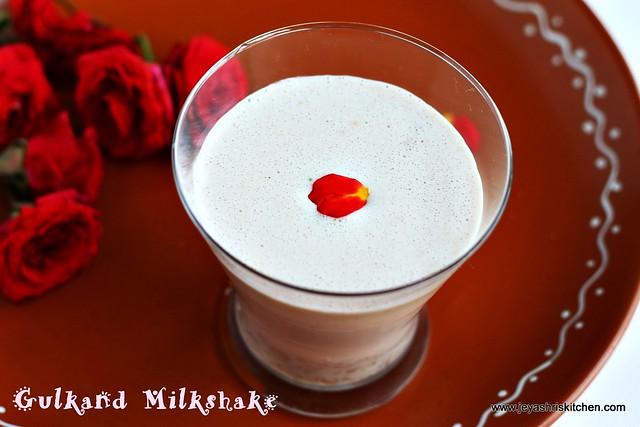 Gulkand-milkshake