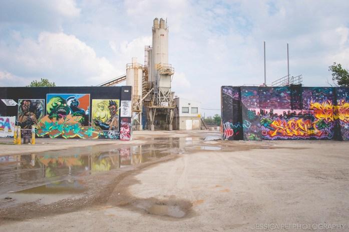 St. Louis Graffiti Flood Wall Riverfront