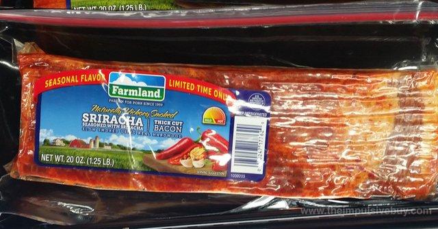 Farmland Seasonal Flavor Limited Time only Sriracha Thick Cut Bacon