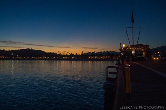 Stearns Wharf Santa Barbara California Sunset