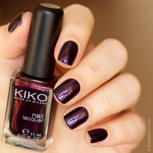 08 Kiko #497 Pearly Indian Violet nail laquer swatches
