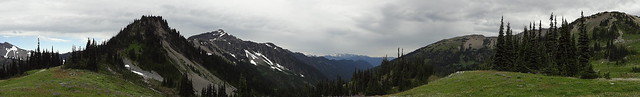 Sentinel Peak, Mount Claywood And Cameron Pass From Lost Pass Panoramic