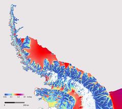 Antarctic Peninsula ice flow