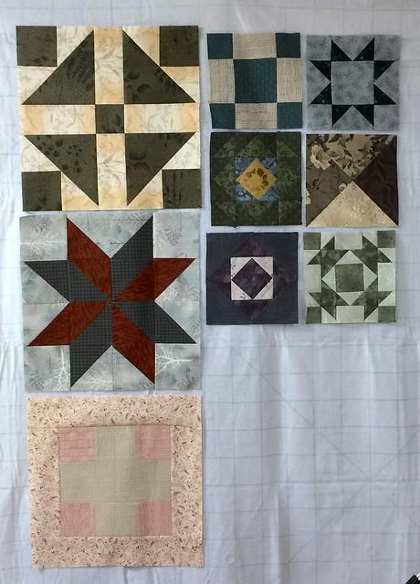 More Modern Building Blocks. Japanese Taupe Fabric.