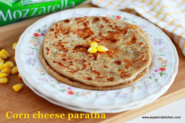 corn-cheese -paratha