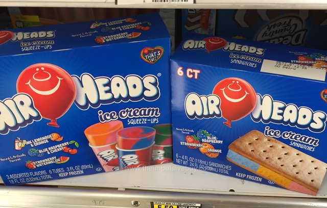 Airheads Ice Cream Squeeze-Ups and Ice Cream Sandwiches