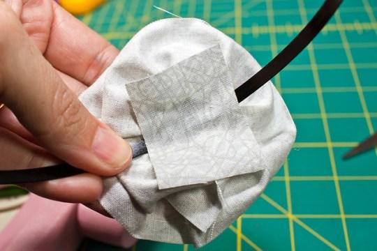 Easy Fabric Rosette Headband