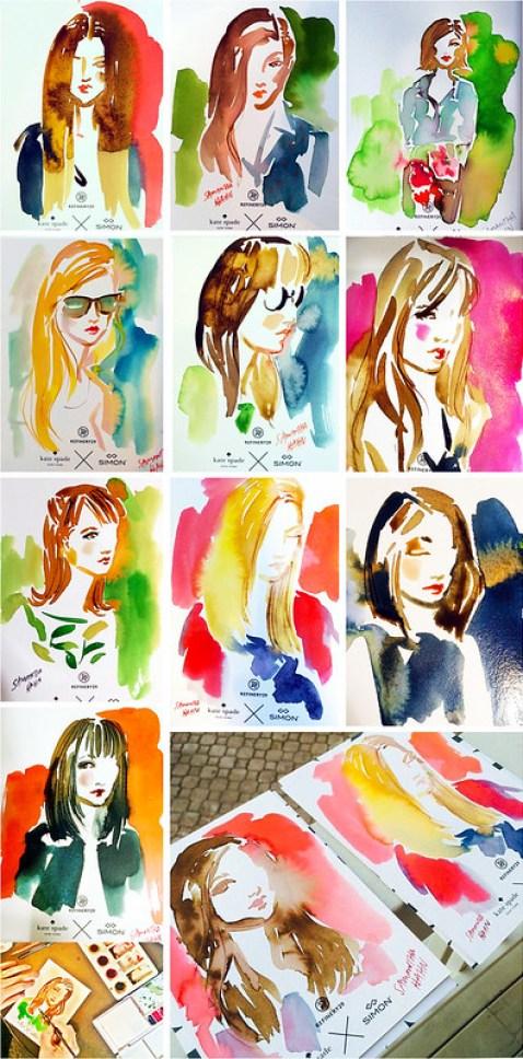 portraits mocked up