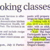 family fun cooking classes for healthy nourishment free OHMS classes The China Study 20 years research on diet and well being T Colin Campbell