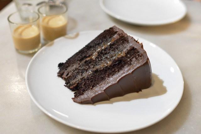 Salted Caramel Chocolate Cake chai milk tea