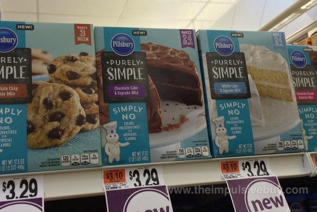 Pillsbury Purely Simple Cookie, Cupcake and Brownie Mixes