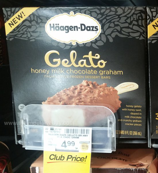 Ha?agen-Dazs Gelato Honey Milk Chocolate Graham Bars