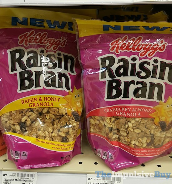 Kellogg's Raisin Bran Granola (Raisin & Honey and Cranberry Almond)