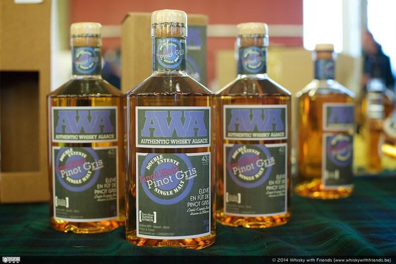 Whisky's uit alle hoeken van de wereld, zo was er ook de AWA ... Authentic Whisky Alsace.
