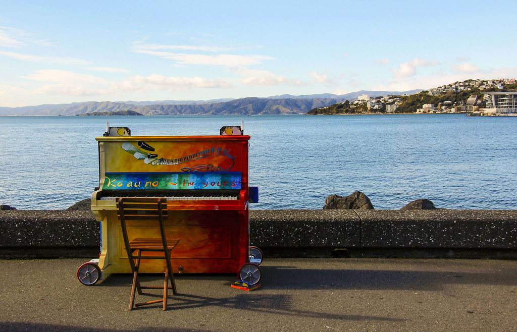 et klaver på Wellington havn, New Zealand