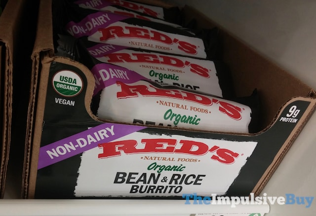 Red's Natural Foods Non-Dairy Organic Bean & Rice Burrito