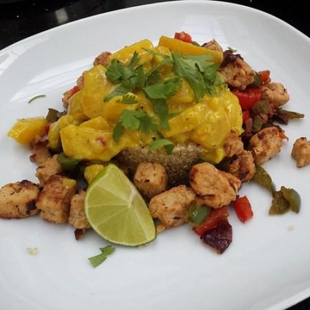 Quorn op zijn Afrikaans met mango-kokossaus en koriander ... recept weldra op de blog