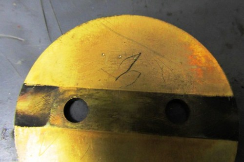 Throttle Plate Front Side (3 Punch Marks)