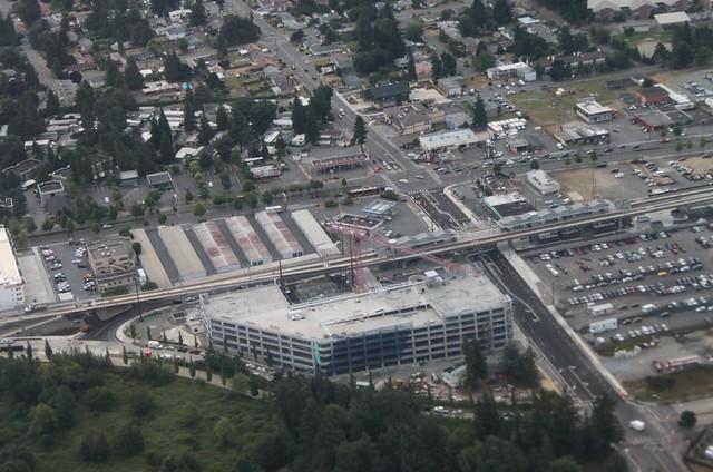 Angle Lake Station aerial view