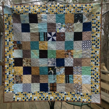 Scrappy Animal Baby Quilt