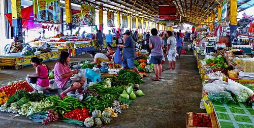 Produce market. Batac City. Philippines.