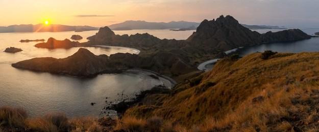Sunset pano. Padar Island, Komodo