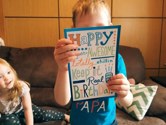 Titus Open His Birthday Present from Papa and Nana (4/18/15)